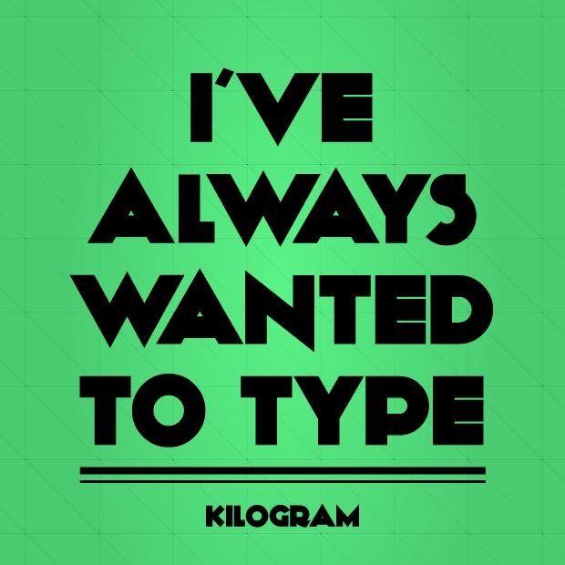 Typsnittstips Kilogram