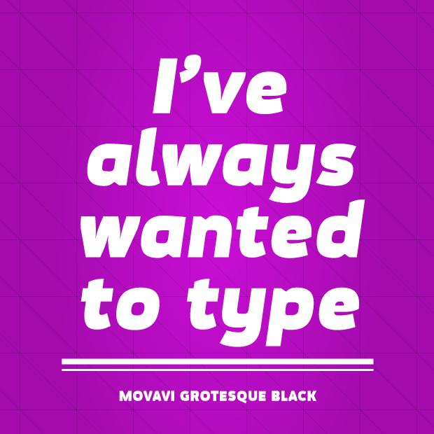 Typsnittstips Movavi Grotesque Black